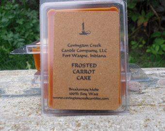 Frosted Carrot Cake  Breakaway Melt Pure Soy Covington Creek Candle Company