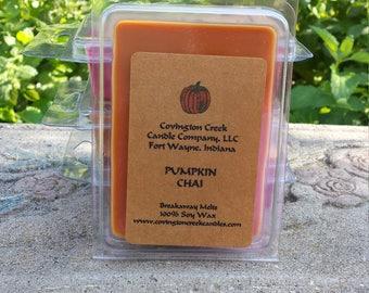 Pumpkin Chai 3 or 6 ounce Soy Breakaway Melt