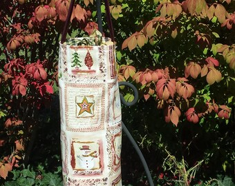 Country ChristmasFabric Plastic Bag Dispenser