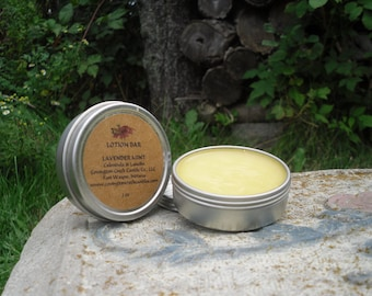Lavender 2 oz Lotion Bar made with 100% USDA Organic Ingredients.