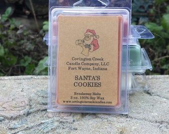 Santa's Cookies 3 or 6 ounce Soy Breakaway Melt.
