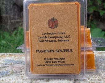 Pumpkin Souffle Soy 3 or 6 ounce Breakaway Melt
