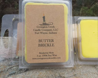 Butter Brickle 3 or 6 Ounce Breakaway Melt.