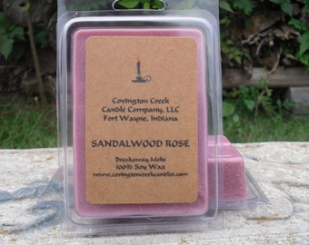 Sandalwood Rose Pure Soy Breakaway Melts.
