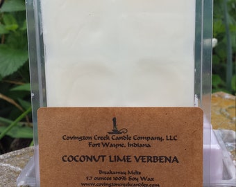 Coconut Lime Verbena Pure Soy Breakaway Melt