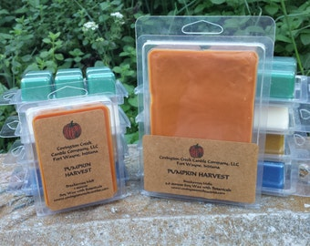 Pumpkin Harvest Soy 3 or 6 ounce Melt. Kitchen Scent, Fall Scent, Autumn Scent, Teacher Gift, Stocking Stuffer, Spice scent, Scentsy