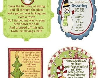 Secret Santa Gift Tag Poem- JPG File