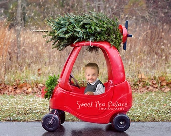 Instant Download DIGITAL BACKDROP for Photographers - Christmas Holiday  Bringing Home The Christmas tree
