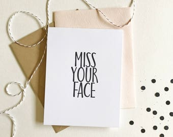 Missing you card lonely lump on swing card