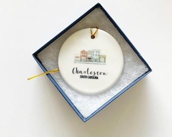 King Street Ornament, Charleston Ornament, Trip Souvenir, Christmas Ornament, Charleston Gift, Personalized Gift, Holiday Gift, Under 25