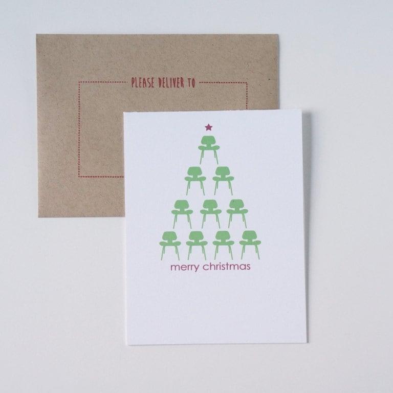 Christmas Card Holiday Cards Modern Christmas Card Modern   Etsy