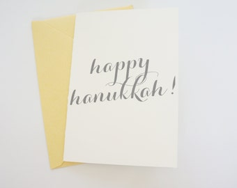 Hanukkah Card, Chanukah Card, Hannukah Card, Hanukkah Card Set, Chanukah Card Set, Modern Calligraphy Style Holiday Card