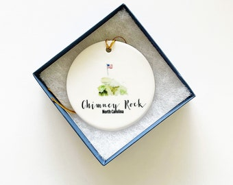 Chimney Rock Ornament, North Carolina Ornament, Trip Souvenir, Ornaments, Charleston Gift, Personalized Gift, Holiday Gift, Under 25