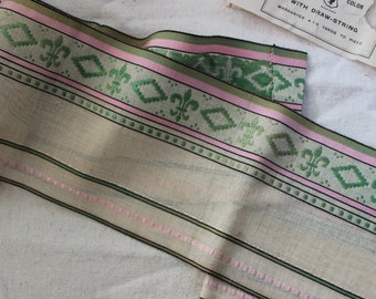 Wide Trim French Fleur De Lis Edwardian Ribbon 4 plus yards Pillow Ruffle Antique by Plantdreaming