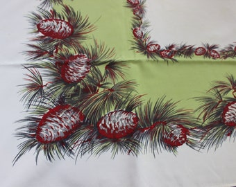 California Hand Prints Tablecloth Pine Cones CHP VINTAGE by Plantdreaming
