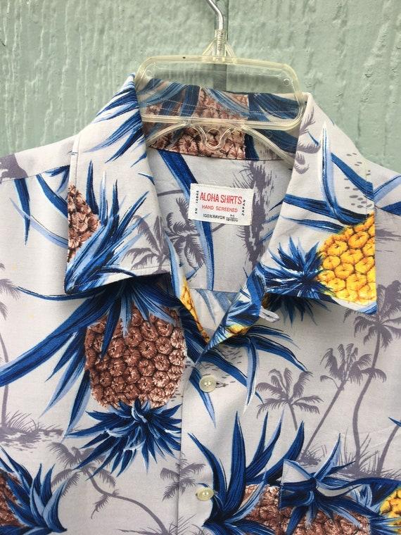 Hawaiian Aloha Shirts Hand Screened Japan Rayon Ha