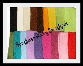 100 Soft Stretch Baby Headbands--ASSORTED Colors--1.5 inch-