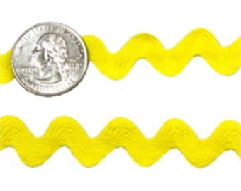 9 MM Ric Rac Trim Ribbon---3 Yards---Yellow