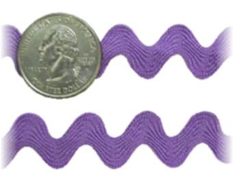 9 MM Ric Rac Trim Ribbon---3 Yards---Lavender