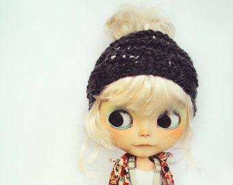 Blythe Bun Beanie   Blythe Beanie   Blythe Hat   Blythe Knitted Beanie   Blythe Fashion   Doll Beanie