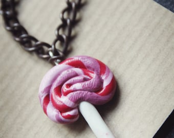 Blythe Necklace   Doll Necklace   BJD Necklace   Polymer Clay Lollipop   Doll Accessories   Doll Clothes