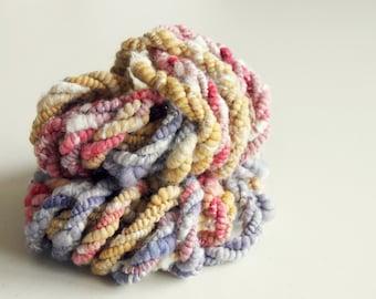 Art Yarn   Handspun Art Yarn   Bulky Yarn   Hand Spun Art Yarn   Textured Yarn   Weaving Yarn   Thick and Thin yarn   'Dusty Desert Road'