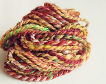 Art Yarn   Handspun Art Yarn   Bulky Yarn   Hand Spun Art Yarn   Textured Yarn   Weaving Yarn   Thick and Thin yarn   Autumn art yarn