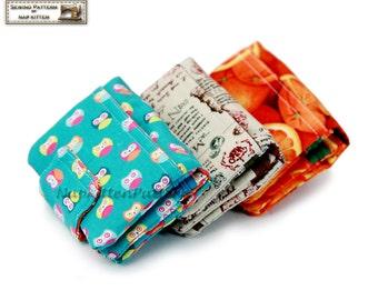 Trifold wallet sewing pattern,wallet pattern,Tri fold wallet tutorial, by NapkittenPattern PDF pattern files instant download