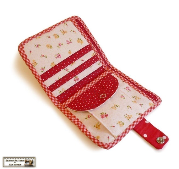 Bi fold wallet sewing pattern tutorial instructions | Etsy
