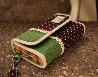 Wallet sewing pattern, clutch sewing pattern, accordion wallet pattern coupon organizer pattern-- PDF-- instant download -- Make It Yourself