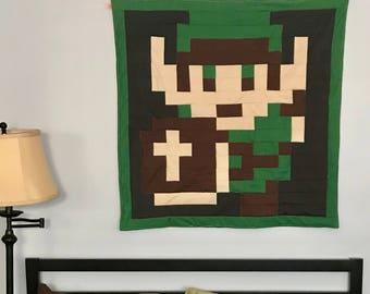 Lil Geek LINK Zelda Crib Quilt