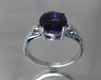 Sterling silver purple amethyst
