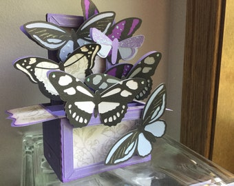 Butterfly Box Card, Happy Birthday Handmade Card