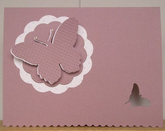 Happy Mom's Day Butterfly, Handmade card