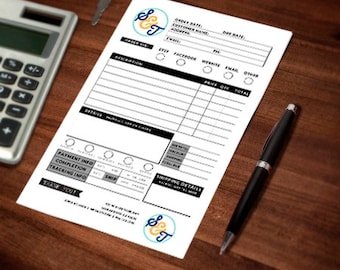 Customizable Small Business 2 Part Carbonless Order Booklet, Craft Fair Order, Customer Orders, Receipt Book