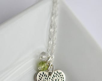Family Jewelry Grandmother - Birthstone Family Necklace - Family Tree Necklace Silver - Grandma Necklace Birthstone -Custom Grandma Necklace