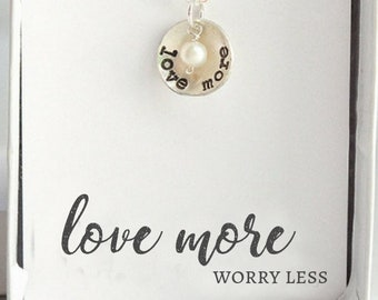Custom Motivational Gifts for Her Sterling Silver Love Fiercely Inspirational Necklace Personalized Birthstone Mantra Necklace for Women