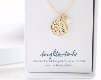 Daughter to Be Necklace - Personalized Daughter to Be Gift - Custom Daughter to Be Necklace - Daughter to Be Gold Necklace