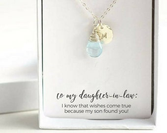 Custom Daughter to Be Necklace - Personalized Daughter in Law Gift - Personalized Silver Birthstone Necklace - Custom Daughter to Be Gift