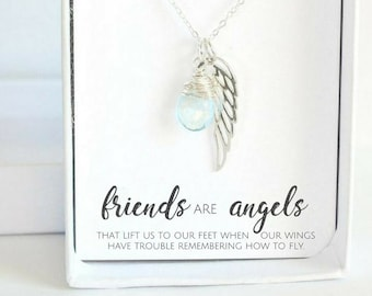 Best Friend Birthday Gift - Gift for Friend - Personalized Best Friend Necklace - Sterling Silver Friendship Necklace