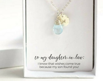 Daughter to Be Silver Necklace - Daughter in Law Necklace - Daughter in Law Gift - Personalized Daughter to Be Necklace - Silver Initial