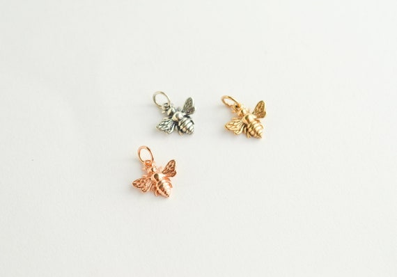 Small Sterling Silver Bumble Bee Charm