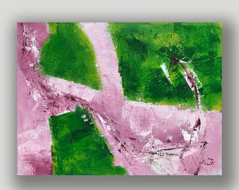 Pink Green 7 an Original Painting