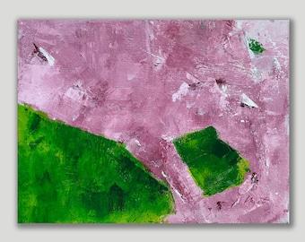Pink Green 8 an Original Painting