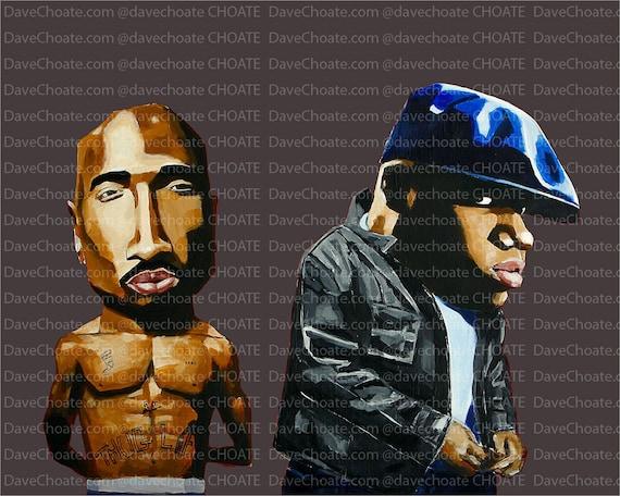2PAC Tupac Biggie Smalls Notorious B.I.G Wandkunst Fotodruck Poster