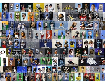 Collage with over 130 paintings on one Art Print