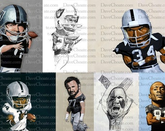 Raiders Collage 13x19 Art Print. Perfect for 18x24 matte frame.