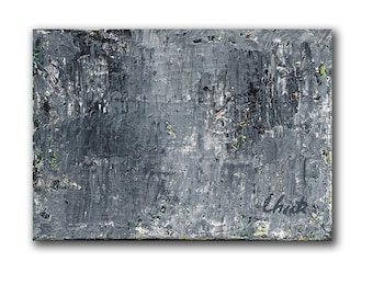 "Abstract Painting. ""Gray Green"""