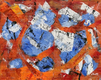 Blue Orange 5 an Original Painting