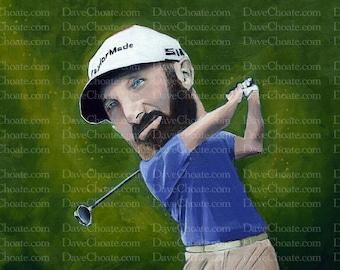Dustin Johnson, Golf Art Photo Print